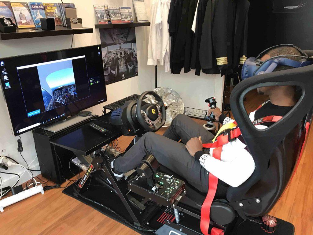 homme qui teste la réalité virtuelle